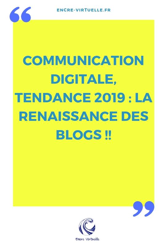 Comment 2019 va marquer la renaissance des blogs !